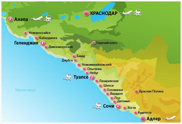 туристическая карта Анапы